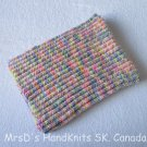 Handknit Multicolor 21 X 31 Inches Baby Blanket