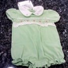 OKIE DOKIE 0-3 MONTHS BABY GIRL LIME ONESIZE EMBROIDERED  L@@K!!