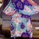 Rare Sz 16 b smart exotic Hawaiian couture dress beautiful design