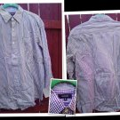 SMALL BOGARI  RED PLAID WESTERN MEN'S SHIRT L@@K!!#RED AND WHITE