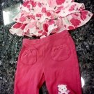 0-3 MONTHS 2PCS BABY GIRL DRESS AND PANTS  -FASHIONABLE FLORAL WEAR L@@K!!