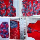 HOMEMADE AMERICANA COUNTRY VESTS-CHILDREN AGES 5-10  FANCY 4TH OF JULY L@@K
