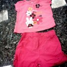 0-3 MONTHS 2PCS BABY GIRL T-SHIRT DECOR AND SHORTS-CUTE L@@K!!