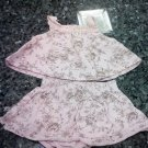 0-3 MONTHS 2PCS BABY GIRL SUMMERY FLOWERED TOP AND PANTIES L@@K!!