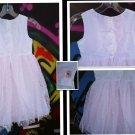 6X MERMETATTE  PRINCESS  GIRL'S  PARTY DRESS SATIN-LACE LINED  L@@K!! FLARED