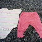 OKIE DOKIE 0-3 MONTHS BABY GIRL 2 PCS SET PANTS AND TOP L@@K!!
