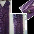 SZ 10 ADRIANNA PAPPELL PURPLE ELEGANT DRESS FASHIONABLE L@@K!!