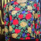 SZ SMALL JOSEPHINE FASHION BOUTIQUE BLOUSE FLORAL LONG SLEEVES L@@K!!
