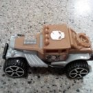 2014 HOT WHEELS MATTEL MCDONALDS BROWN JEEP SKULL FLAG L@@K!!