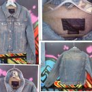 M VINTAGE UNISEX  EXPRESS  DENIM BLUE JEAN JACKET  SUPERBERB. L@@K!!!