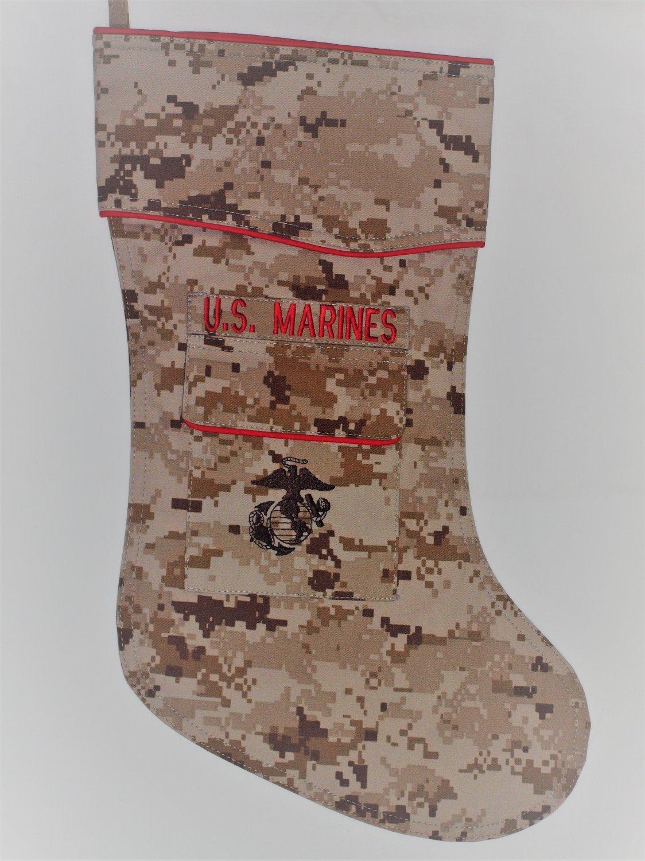 ABU Camouflage Fabric by Camosock U.S F-16 Air Force Christmas Stocking