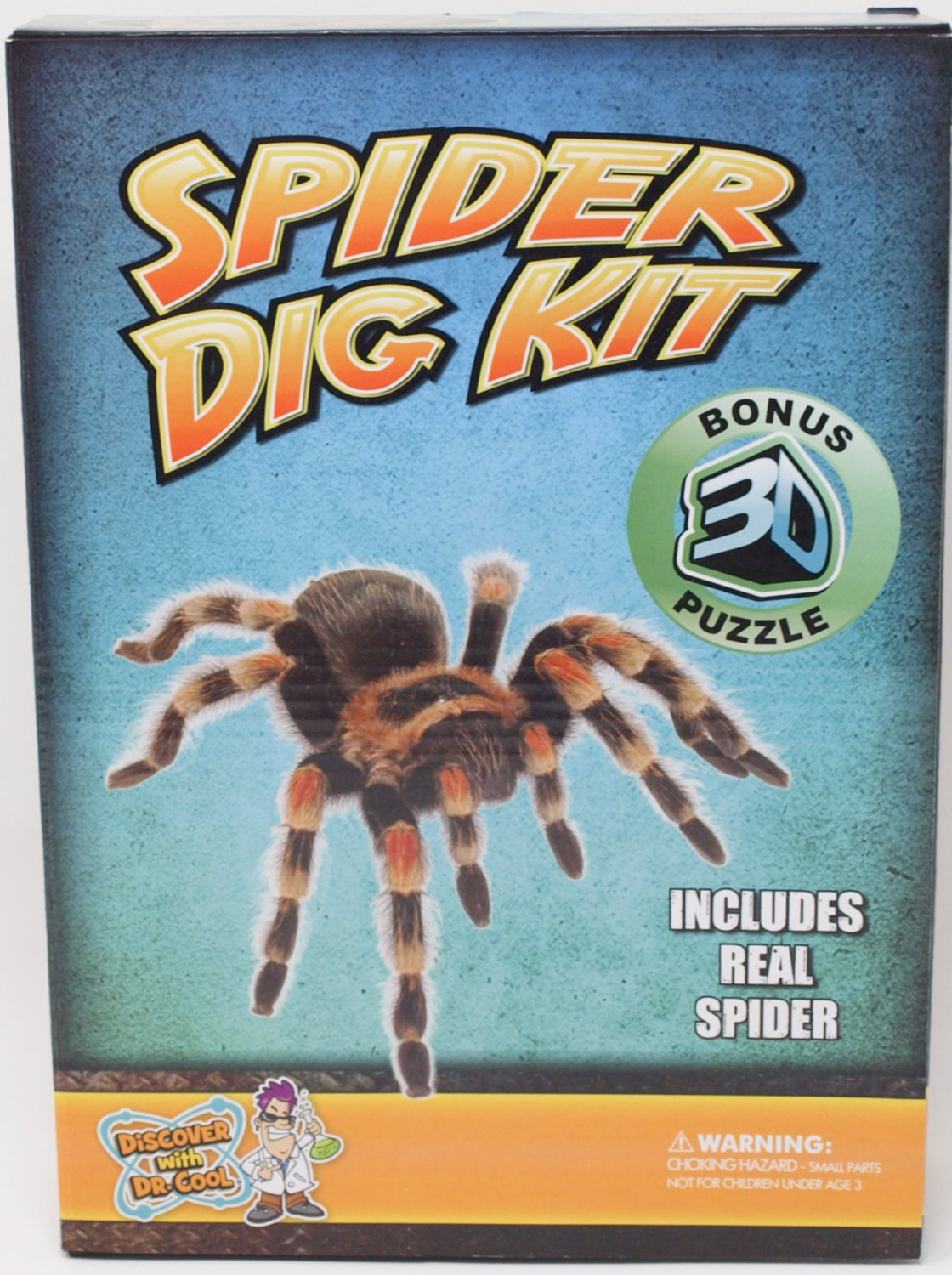 Spider Dig Kit with Bonus 3D Puzzle, Excavate A Real Spider Science Kit by Discover with Dr. Cool