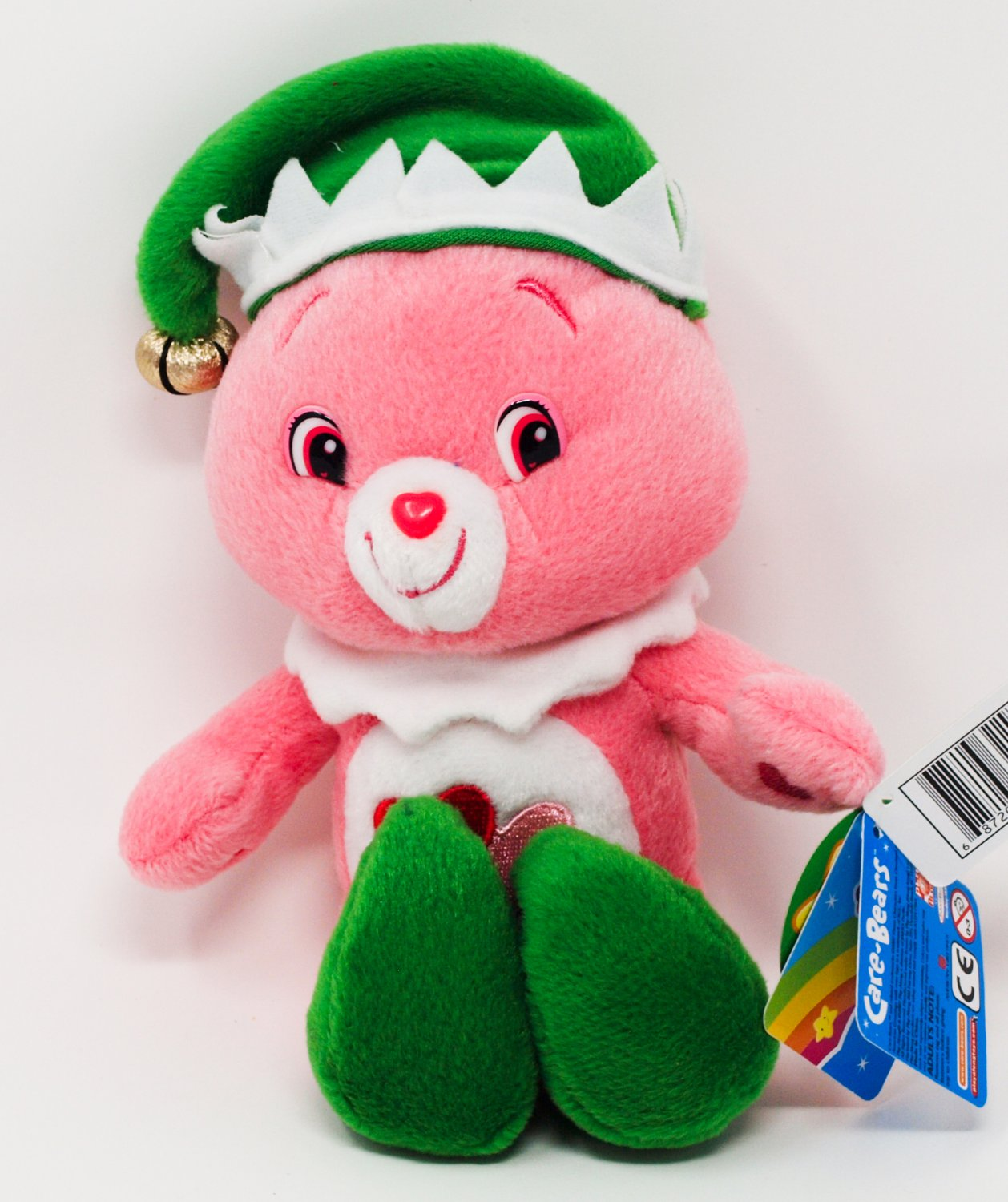 Care Bears Plush Love-a-lot Elf Bear, 2007 Care Bears Holiday Friends Christmas Special Edition NEW