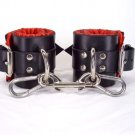 Red satin lined ankle cuffs