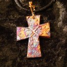 raku cross pendant