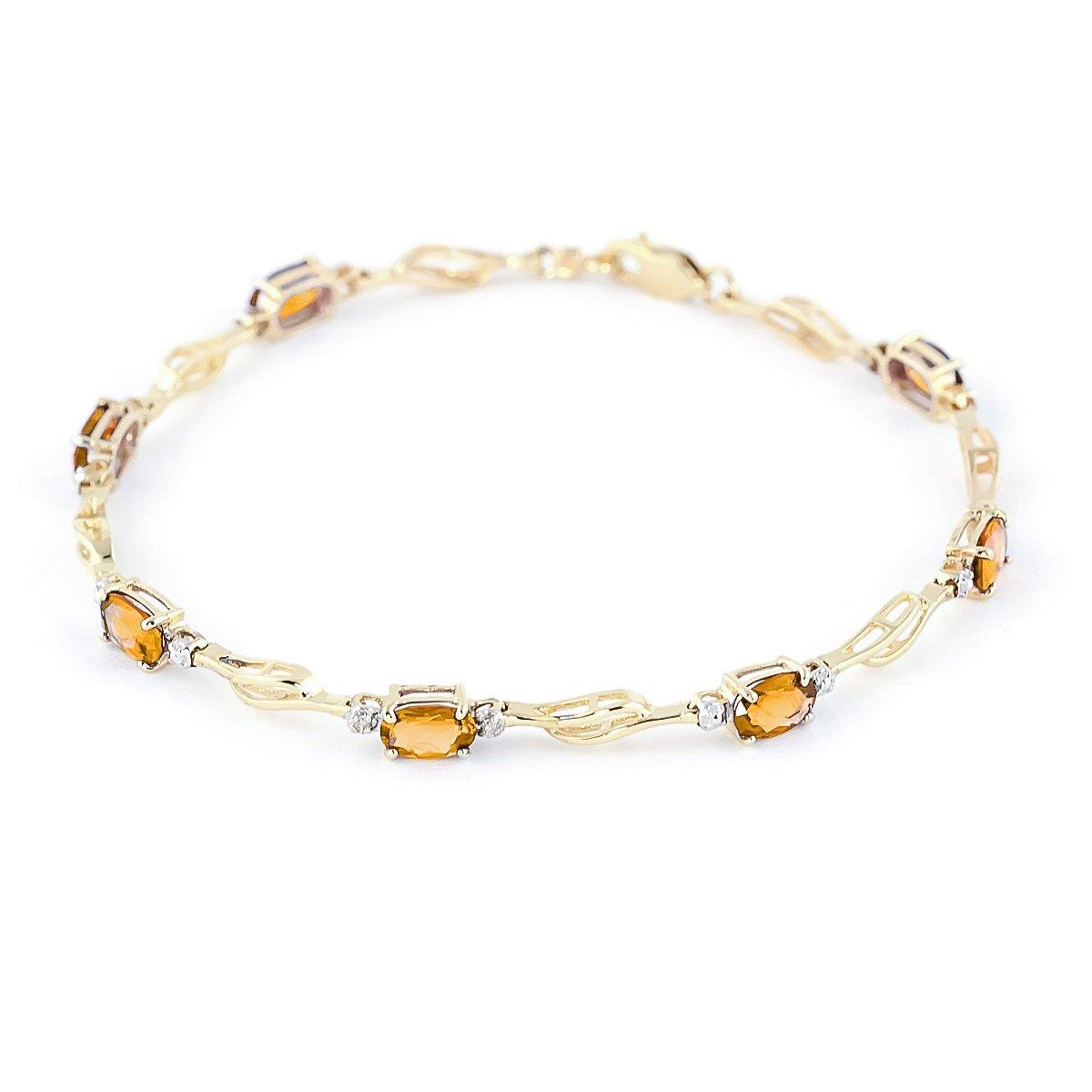 November Birthstone Citrine Tennis Bracelet 14k Yellow Gold 4279-Y