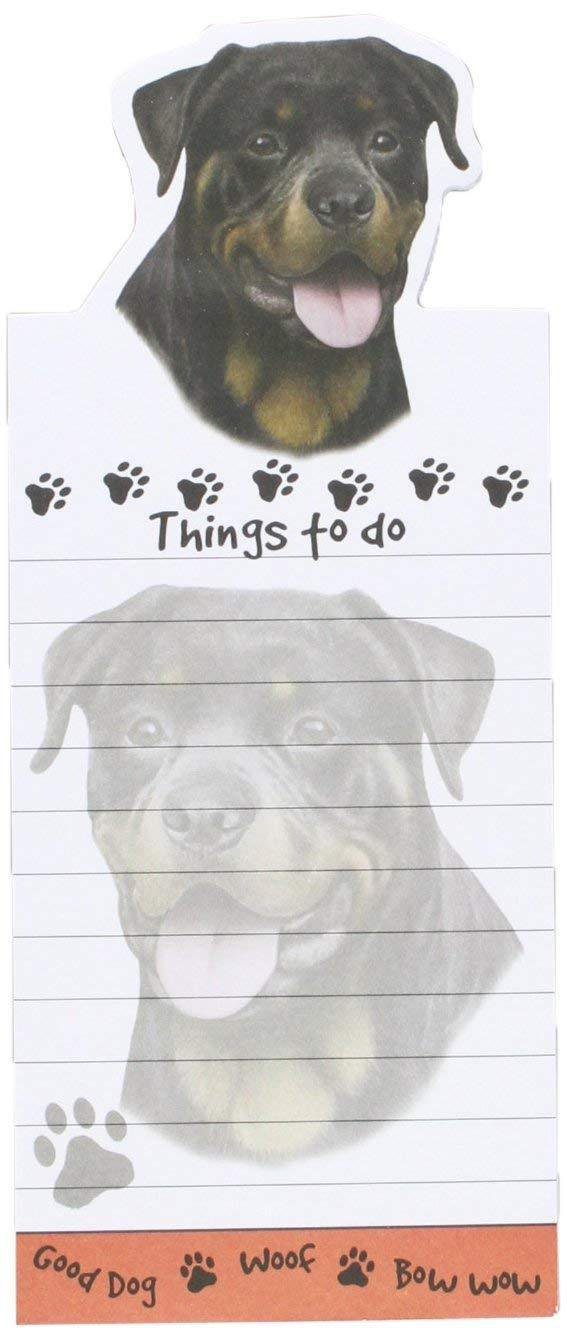 ROTTWEILER Die Cut List Pad/Note Pad with Magnetic Back