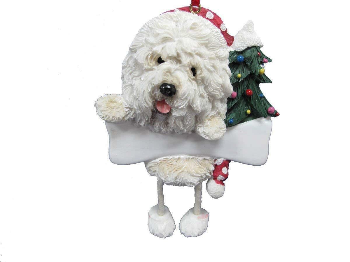 OLD ENGLISH SHEEPDOG--Dangling Legs Dog Christmas Ornament by E&S Pets