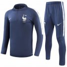 France Two Stars Dark Blue Training Suit 2018