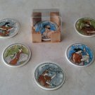 Ancient Greek Gods Ceramic Coasters set of 6 with case, stoneware, tea cups, coffee mugs, pottery