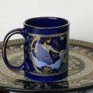Ancient Greek Gods, Cobalt Ceramic Mug 24 Kt Gold, stoneware, cups, mugs, pottery