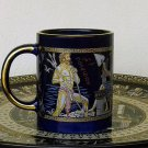 Ancient Greek Gods, Cobalt Ceramic Mug 24 Kt Gold, stoneware, cups, mugs, pottery
