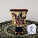 Pythagoras cup, Fair cup, Museum Copy, engraved in hand, Goddess Aphrodite, stoneware, pottery