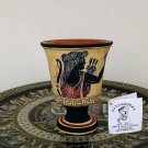 Pythagoras cup, Fair cup, Museum Copy, engraved in hand, Goddess Artemis, stoneware, pottery