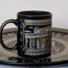 Acropolis, Parthenon Ancient Greek Temple, Ceramic Mug 24 Kt Gold, stoneware, cups, mugs, pottery