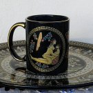 Ancient Greek Satire, Black Ceramic Mug 24 Kt Gold, stoneware, cups, mugs, pottery