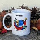Pisces Mug, Zodiac Sign Mug, Astrology Mug, Zodiac Gift, stoneware, tea cups, coffee mugs, pottery