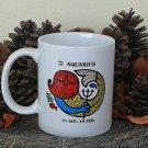 Aquarius Mug, Zodiac Sign Mug, Astrology Mug, Zodiac Gift, stoneware, tea cups, coffee mugs, pottery