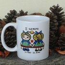 Gemini Mug, Zodiac Sign Mug, Astrology Mug, Zodiac Gift, stoneware, tea cups, coffee mugs, pottery