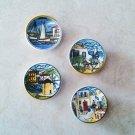 Greek Islands Ceramic Magnets, kitchen magnets, fridge magnets, magnets set, magnets for boards