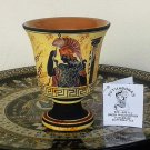 Pythagoras cup, Fair cup, Museum Copy, engraved in hand, Goddess Athena, stoneware, pottery