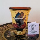 Pythagoras cup, Fair cup, Museum Copy, engraved in hand, depicts God Hermes, stoneware, pottery