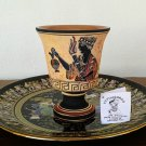 Pythagoras cup, Fair cup, Museum Copy, engraved in hand, Goddess Demeter, stoneware, pottery