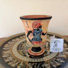 Pythagoras cup, Fair cup, Museum Copy, engraved in hand, depicts God Ares, stoneware, pottery