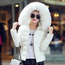 Winter Collar Jacket Coat Hooded Warm Parka Faux Women Long Outwear Slim Womens