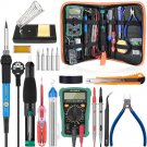 Temperature Electric Soldering Iron Kit  60W Soldering Iron kit With Multimeter