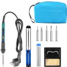 Digital Soldering Iron 60w Soldering Iron kit with 5 Soldering Tips Pump Stand w