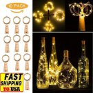 10pcs Warm Wine Bottle Cork Shape Lights 20 LED Night Fairy String Lights Lamp