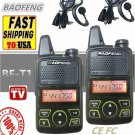 2PCS BAOFENG BF-T1 Kids Radio MINI Talkie Walkie UHF Portable Ham CB Radio