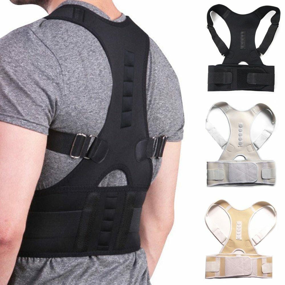 Adjustable Magnetic Posture Corrector Back Support Shoulder Back Brace Belt