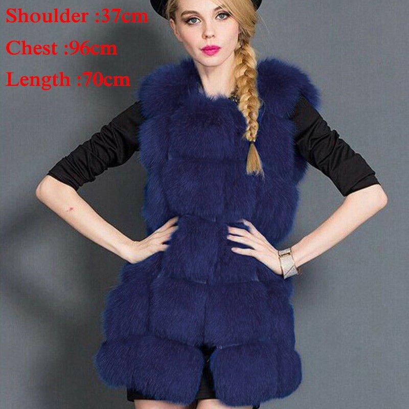 Faux Fur Coat Winter Women 2018 New Fashion Casual Warm Slim Sleeveless Faux