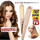 2 IN 1 MESTAR IRON PRO - Hair Straightener Negative Ions Curling Iron - US new