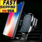 Fast Car Qi Wireless Charger Mount For iPhone XS Max X 8 Samsung Xiaomi Mix 3 2S