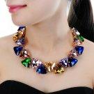 Jerollin Fashion Jewelry Gold Chain 7 Colors Triangular Glasses Chunky Choker