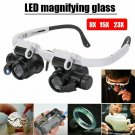 Magnifying 8X 23X LED Eye Glasses Loupe Lupe Repair Watch Jeweler
