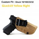B.B.F Make IWB Tactical KYDEX Gun Holster GLock19 Yellow Right